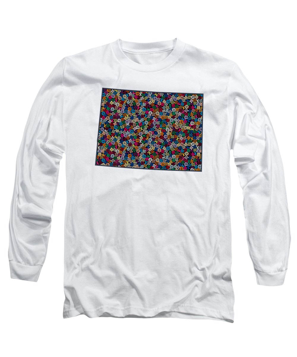 Denver Long Sleeve T-Shirt featuring the painting Colorado Map - 1 by Nikita