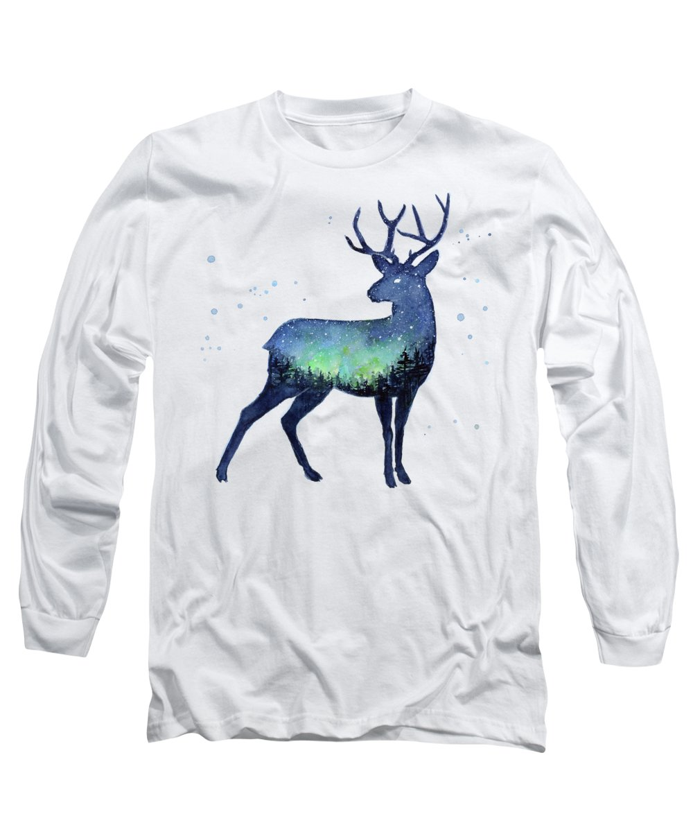 Northern Lights Paintings Long Sleeve T-Shirts
