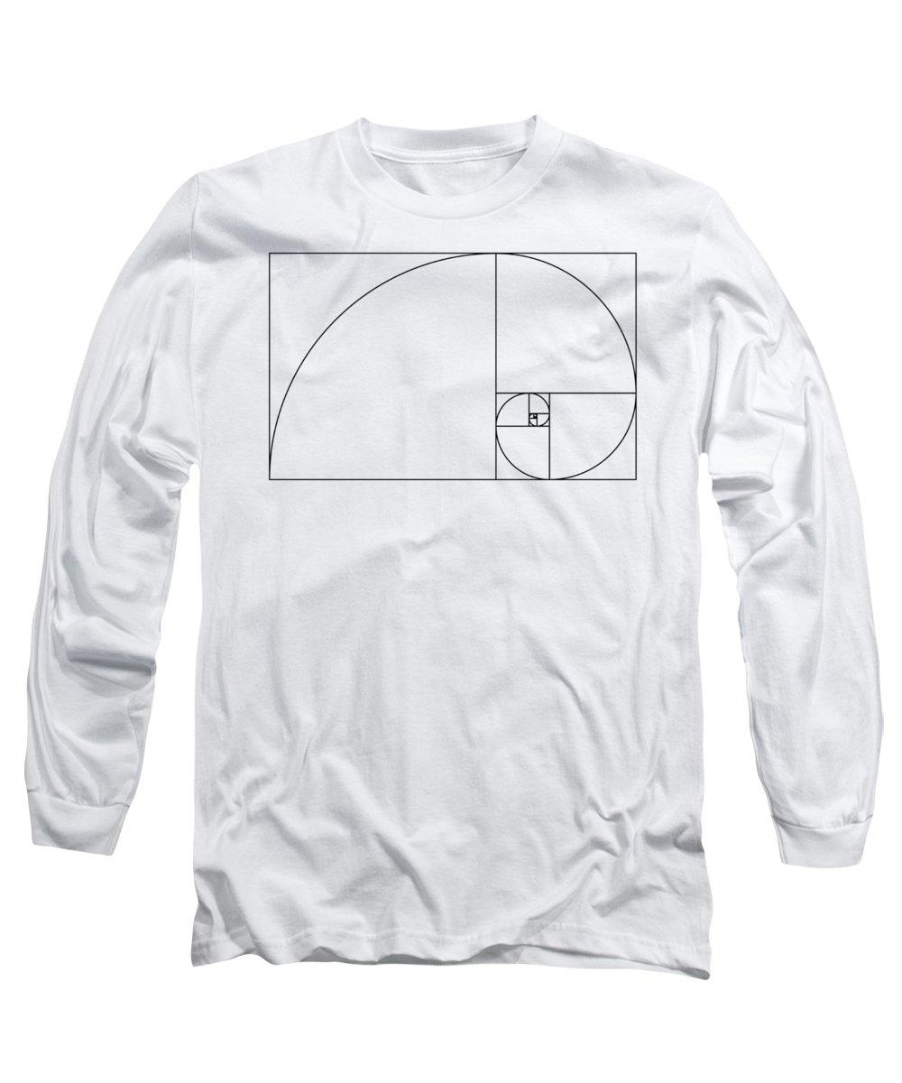 Golden Spiral Long Sleeve T-Shirt featuring the digital art Golden Spiral by Zapista Zapista