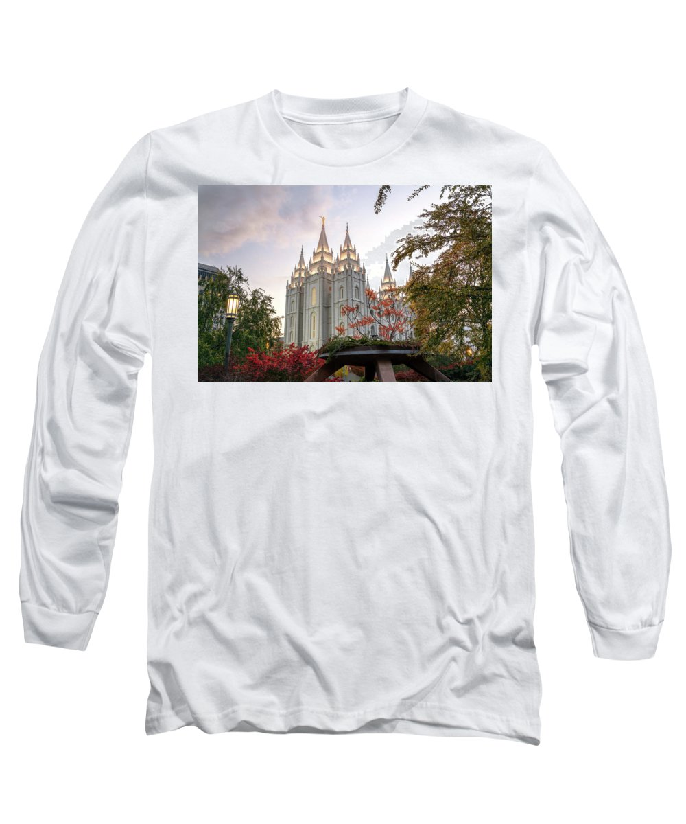 Mormon Long Sleeve T-Shirt featuring the photograph House Of The Lord by Dustin LeFevre