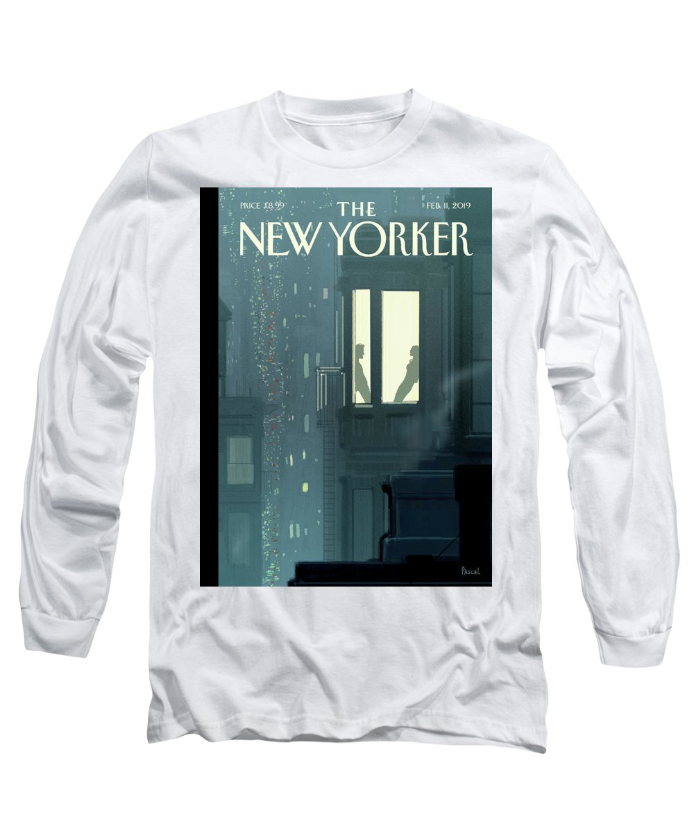 Love Interest Long Sleeve T-Shirt featuring the painting Love Interest by Pascal Campion