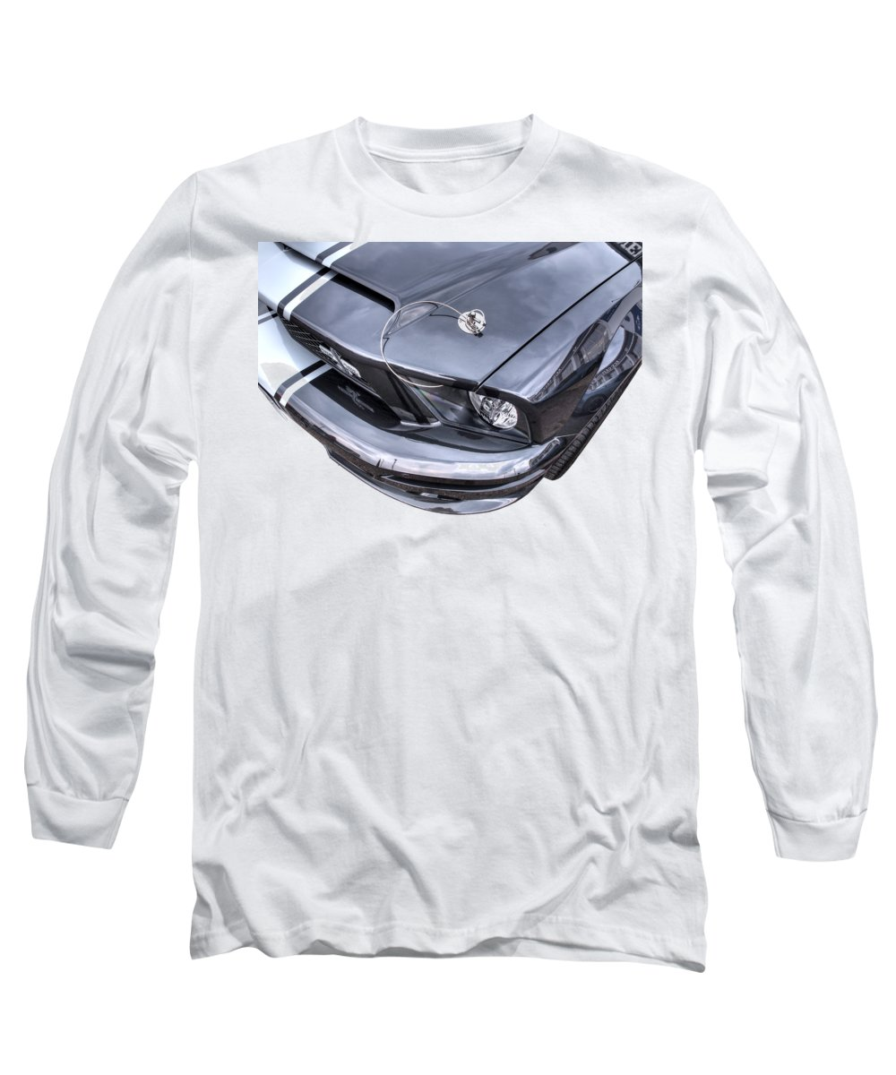 Ford Mustang Long Sleeve T-Shirt featuring the photograph Shelby Super Snake At The Ace Cafe London by Gill Billington