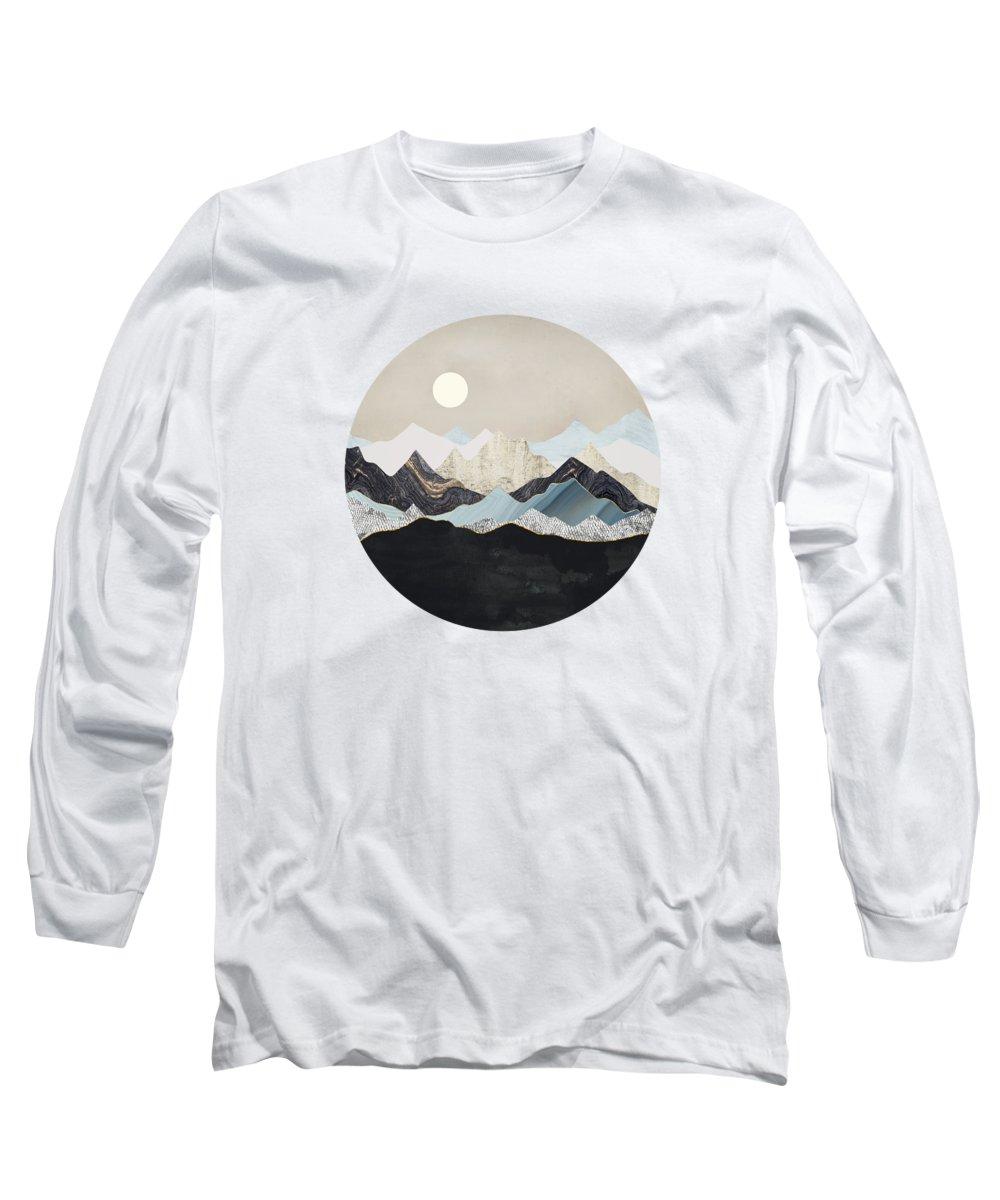 Digital Long Sleeve T-Shirt featuring the digital art Silent Dusk by Spacefrog Designs
