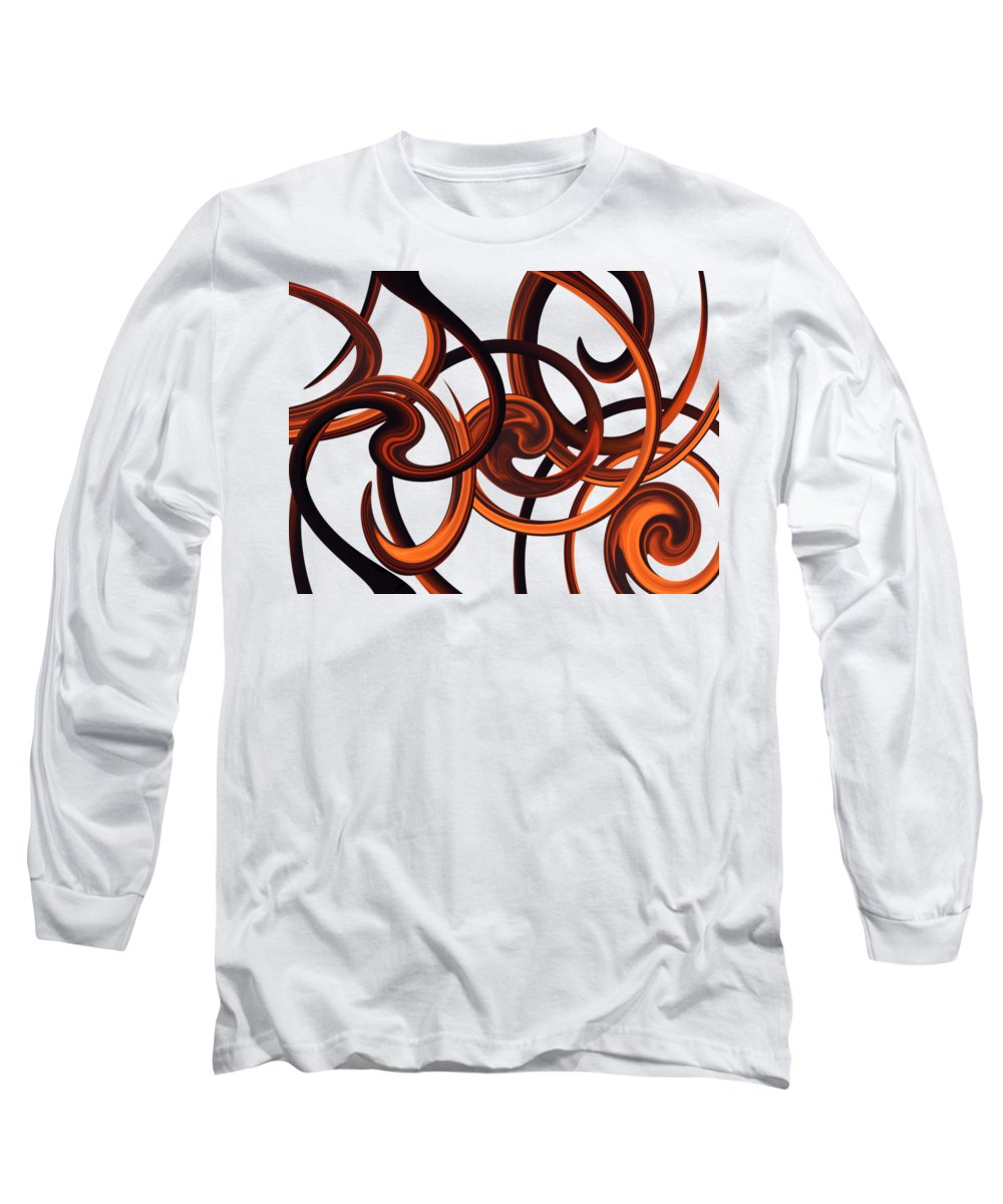Storm Long Sleeve T-Shirt featuring the digital art Storm Dance by Whispering Peaks Photography