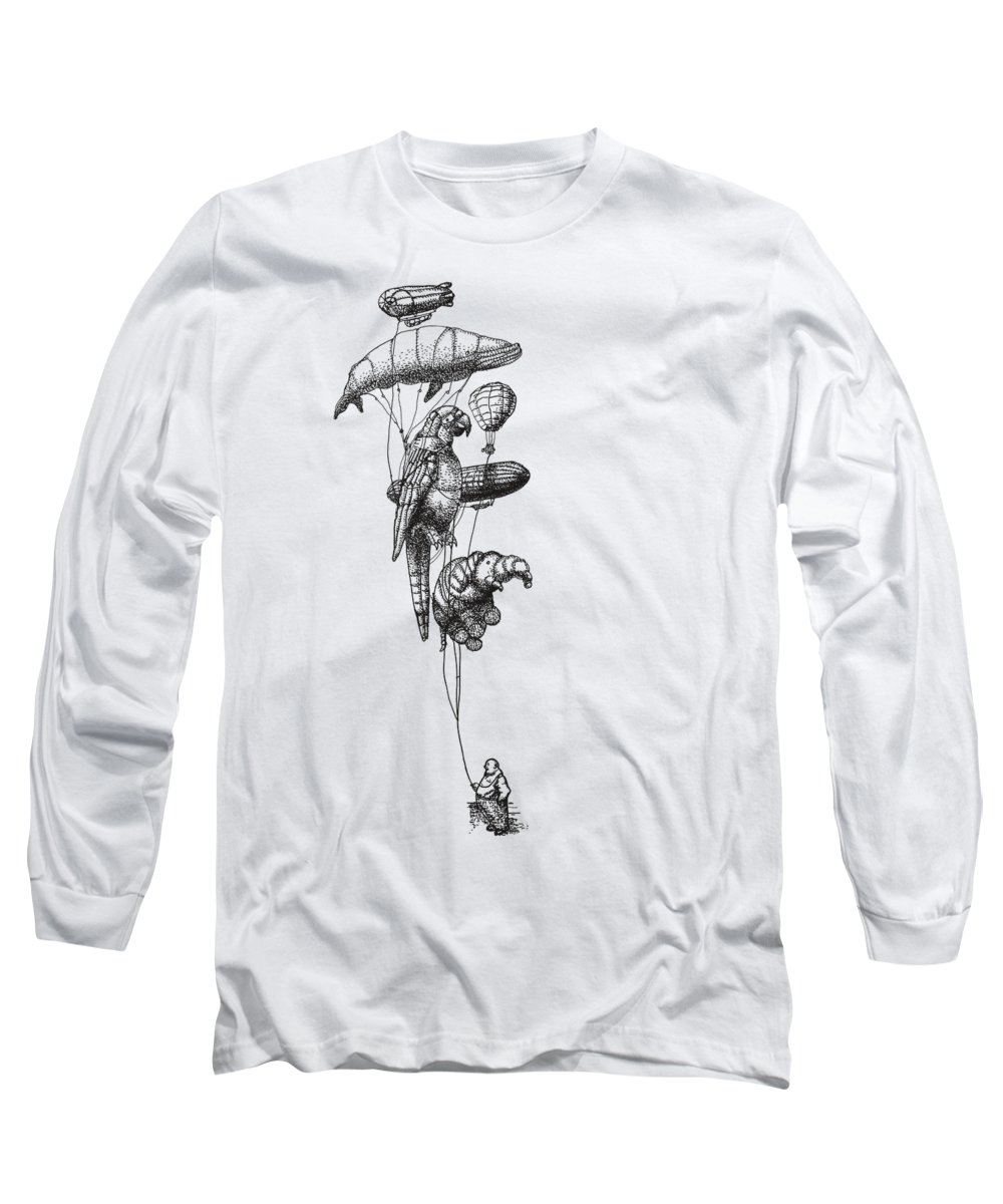 Parrot Drawings Long Sleeve T-Shirts