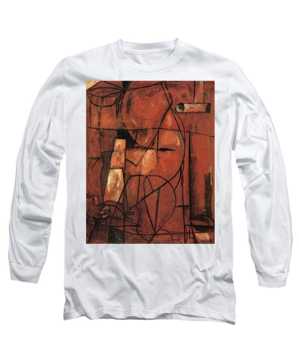Shunsuke Long Sleeve T-Shirt featuring the painting Top Quality Art - Figure by Shunsuke Matsumoto