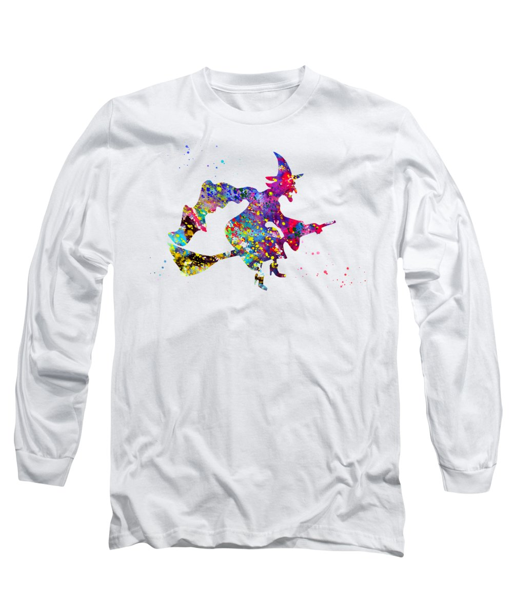 Wizard Of Oz Inspired Long Sleeve T-Shirt featuring the digital art Wizard Of Oz by Erzebet S