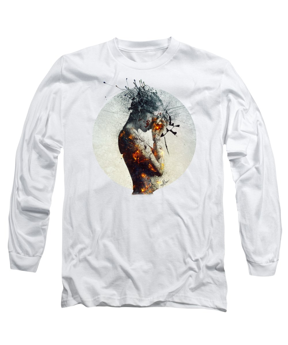 Deliberation Long Sleeve T-Shirt featuring the digital art Deliberation by Mario Sanchez Nevado