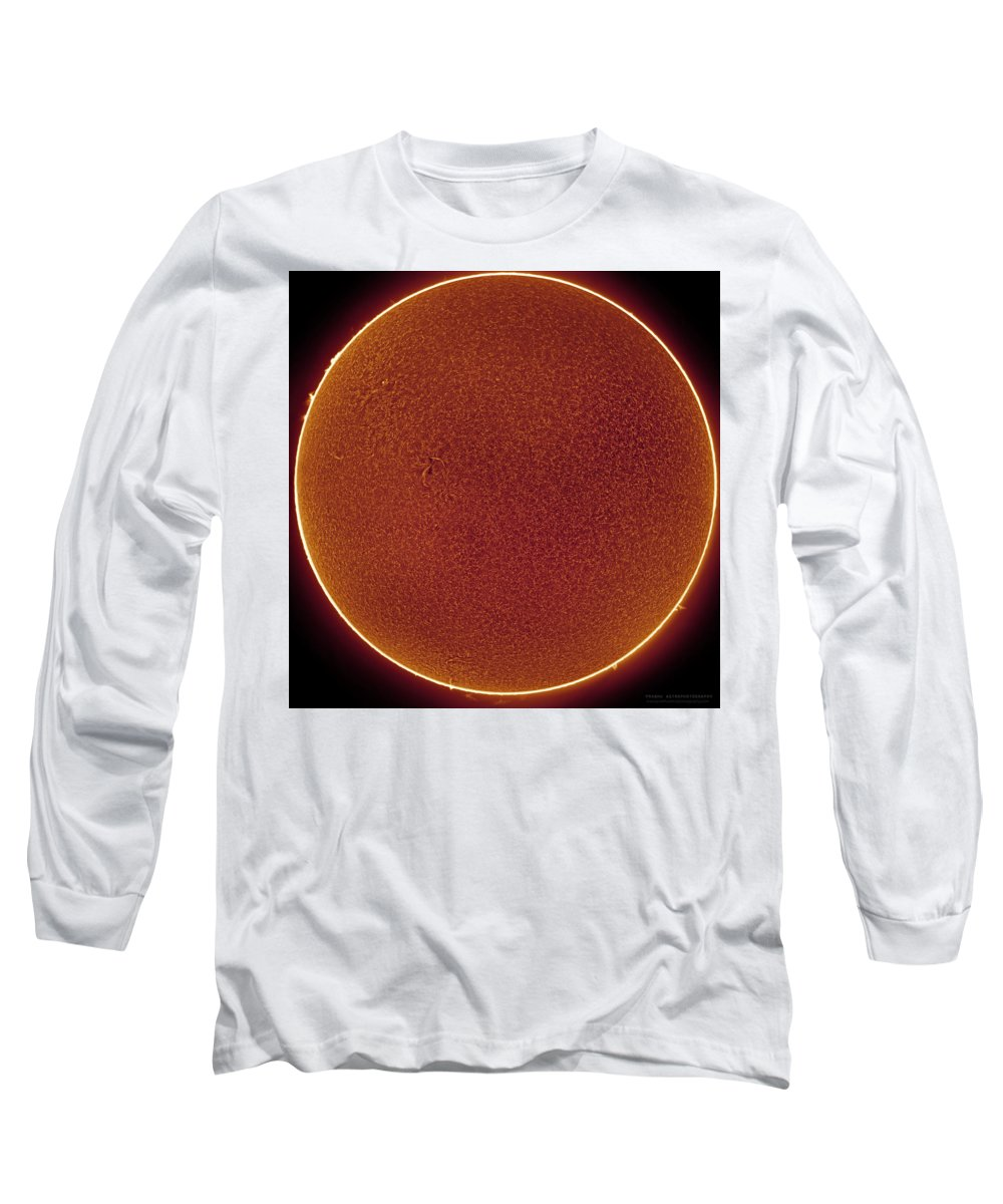 Long Sleeve T-Shirt featuring the photograph Sun in Hydrogen-alpha by Prabhu Astrophotography