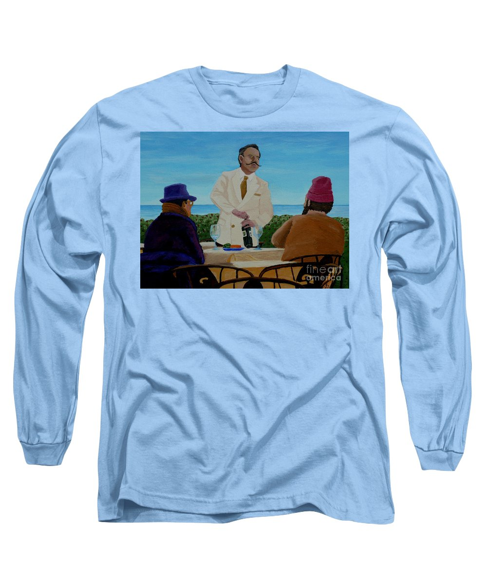 Wine Long Sleeve T-Shirt featuring the painting A Fresh Bottle by Anthony Dunphy