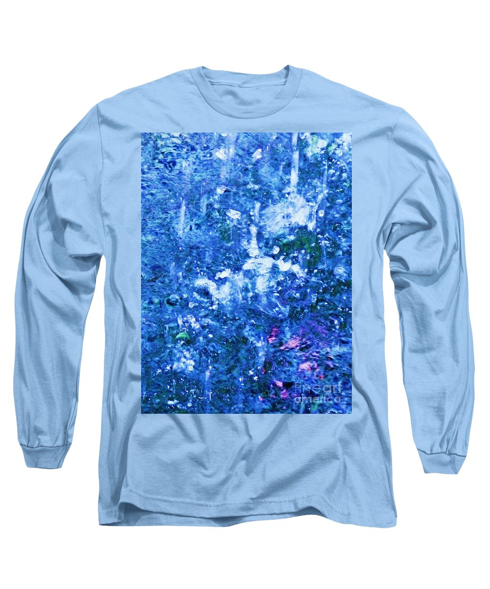 Abstract Long Sleeve T-Shirt featuring the photograph Abstract Splashing Water by Eric Schiabor
