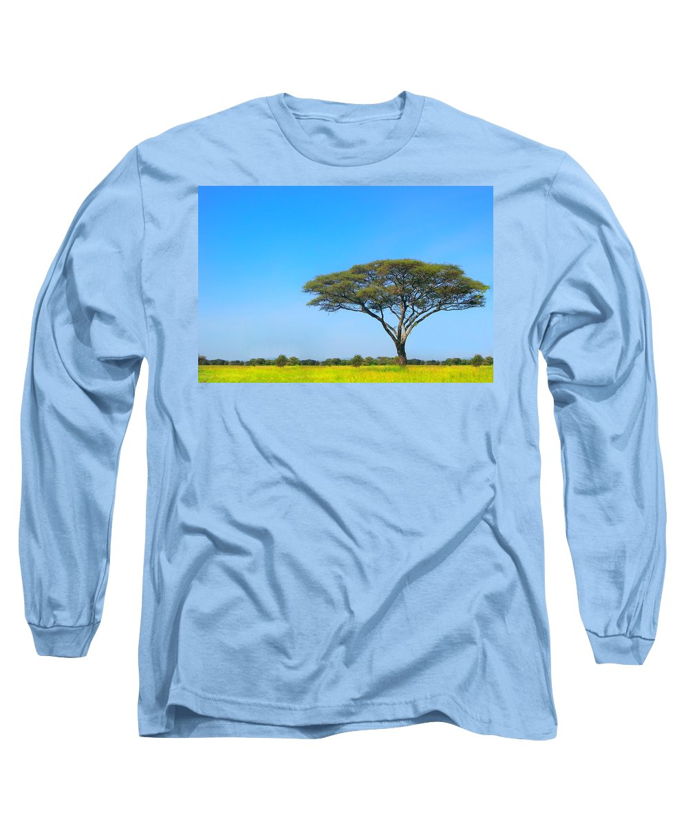 Africa Long Sleeve T-Shirt featuring the photograph Africa by Sebastian Musial