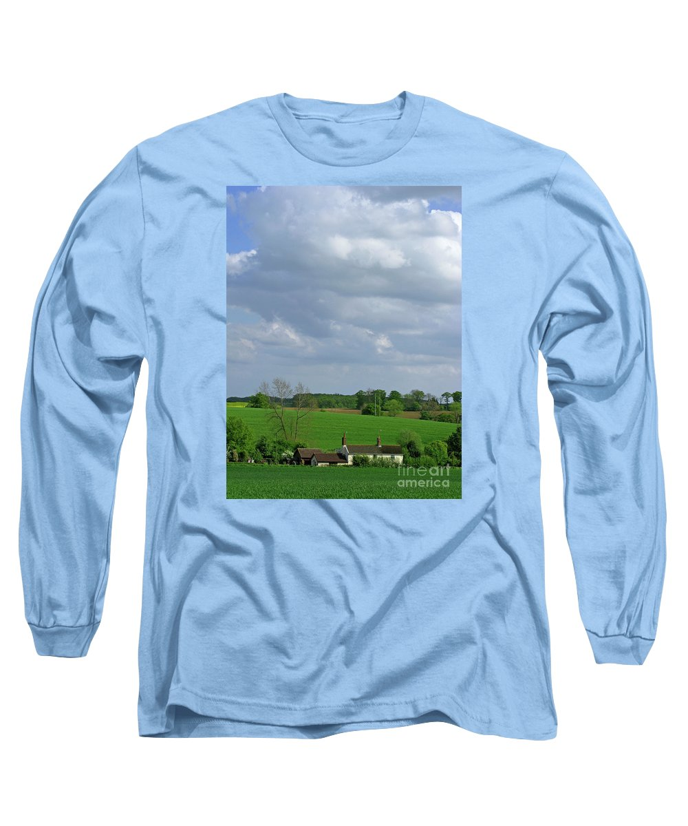 Sky Long Sleeve T-Shirt featuring the photograph Big Suffolk Sky by Ann Horn