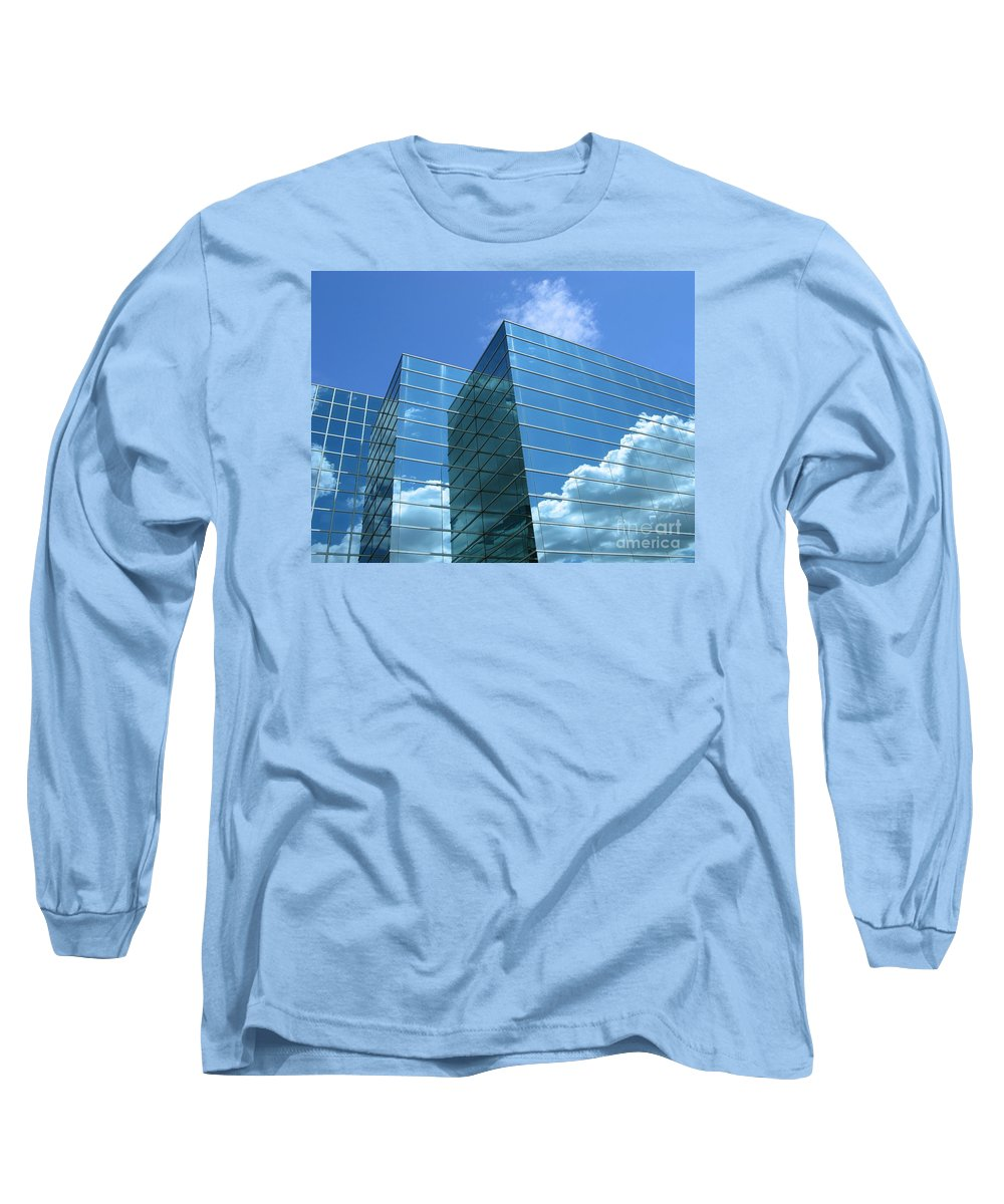 Building Long Sleeve T-Shirt featuring the photograph Cloud Mirror by Ann Horn