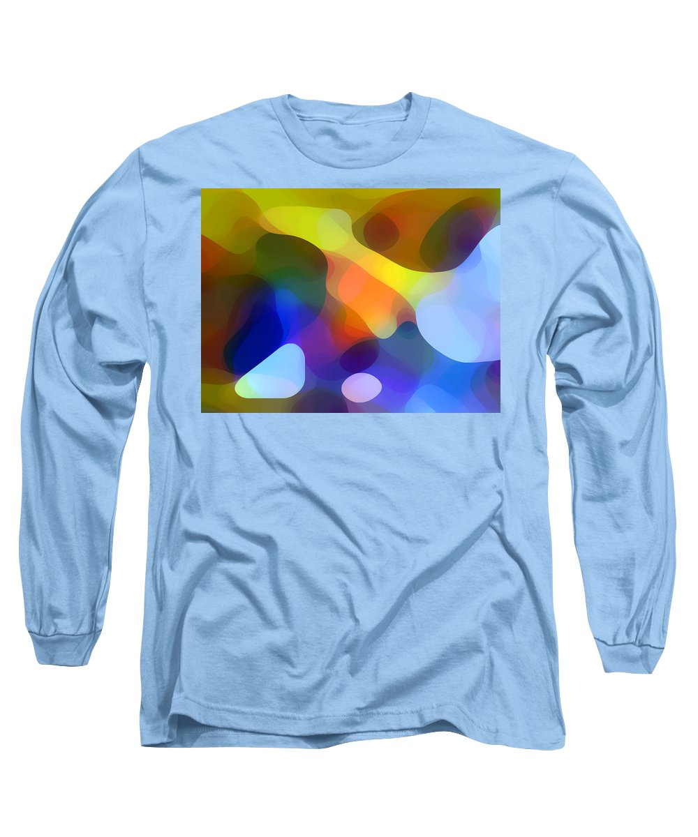 Bold Long Sleeve T-Shirt featuring the painting Cool Dappled Light by Amy Vangsgard