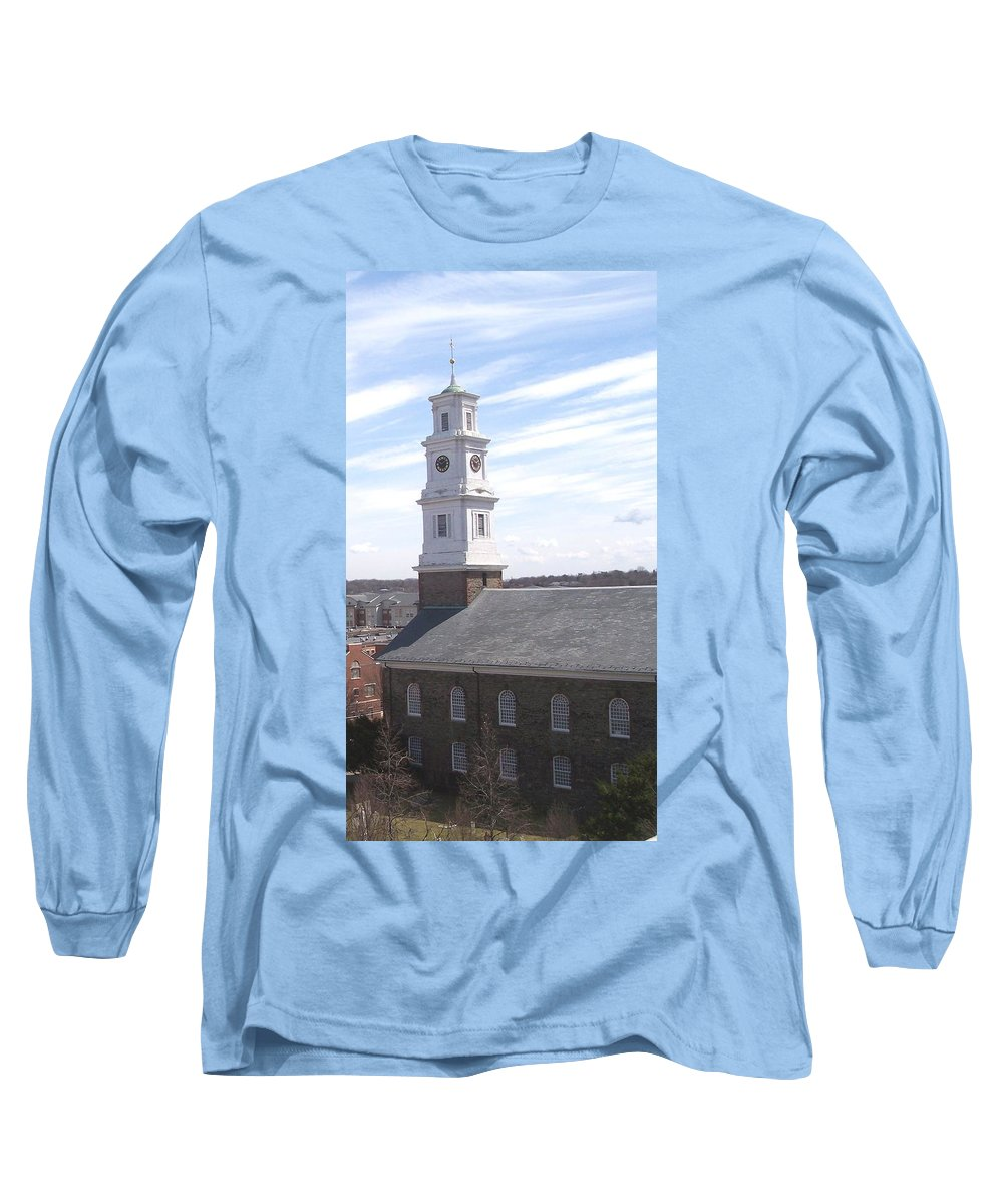 Architecture Long Sleeve T-Shirt featuring the photograph Into The Blue by Pharris Art