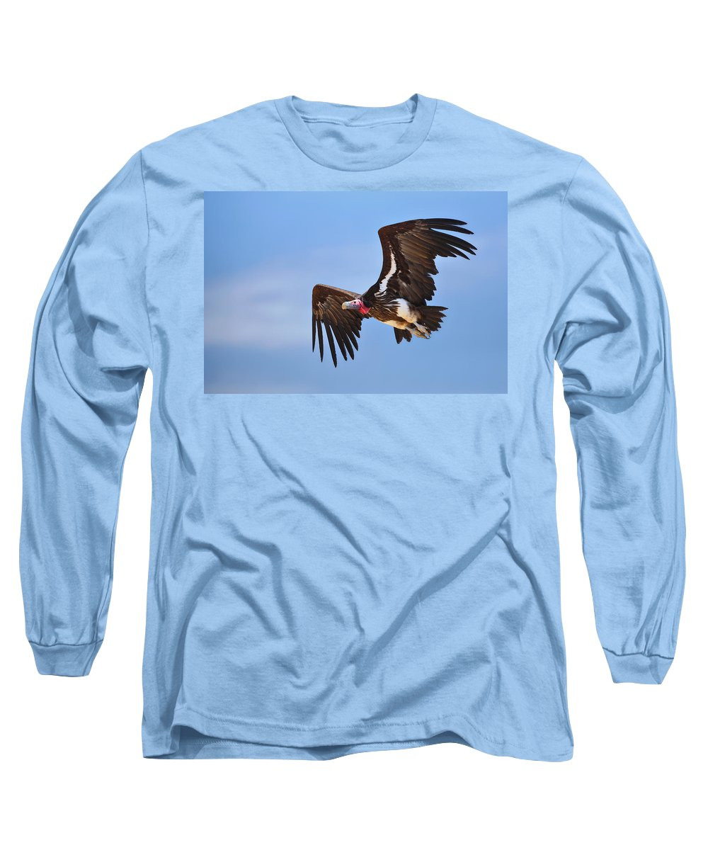 Wings Long Sleeve T-Shirt featuring the photograph Lappetfaced Vulture by Johan Swanepoel