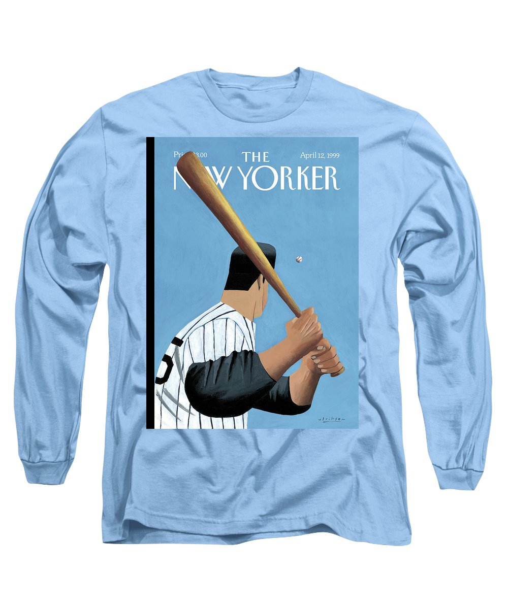 Opening Day Long Sleeve T-Shirt featuring the painting New Yorker April 12th, 1999 by Mark Ulriksen