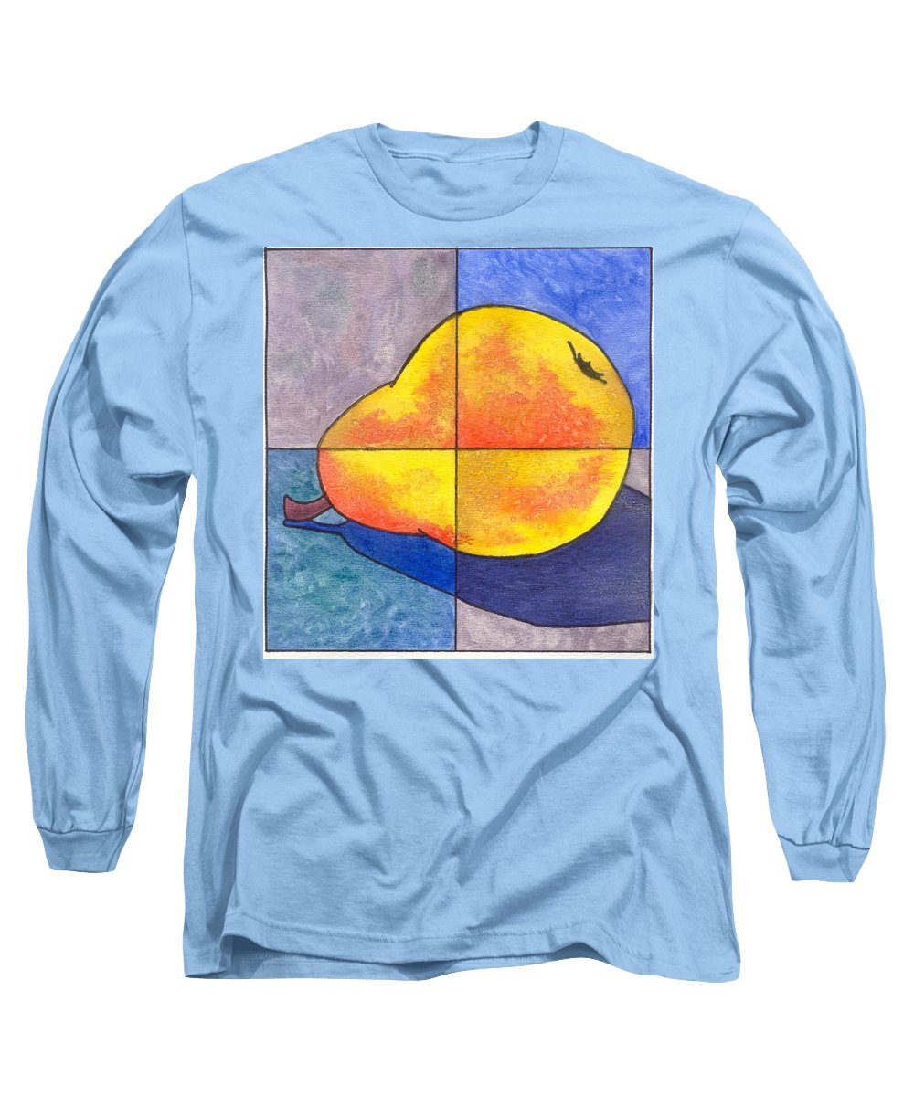 Pear Long Sleeve T-Shirt featuring the painting Pear I by Micah Guenther