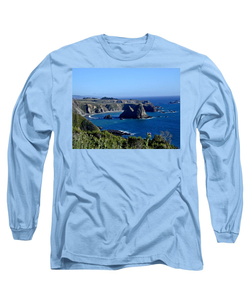 Sea Long Sleeve T-Shirt featuring the photograph Sea Coast Of Northern California by Douglas Barnett