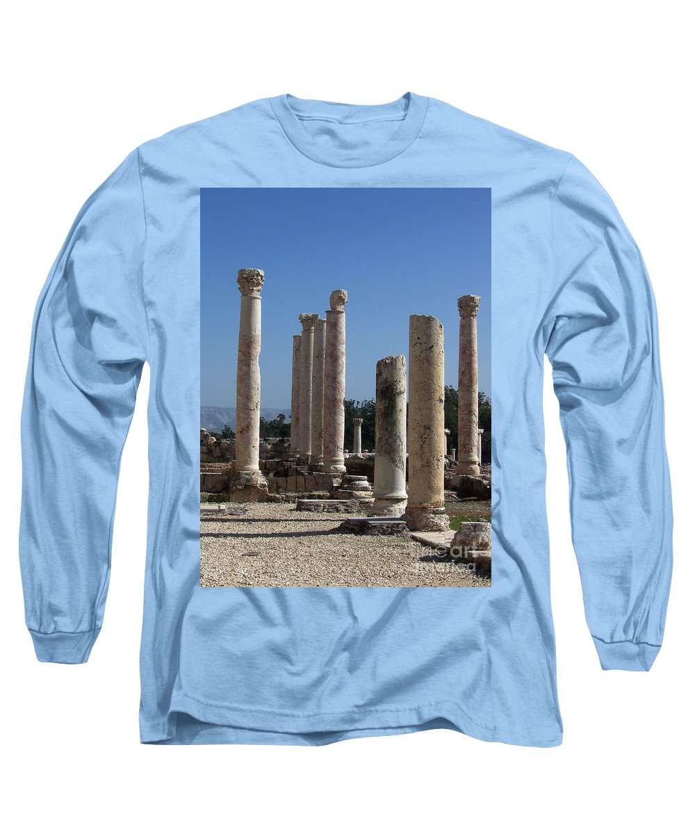Israel Long Sleeve T-Shirt featuring the photograph Still Standing by Kathy McClure