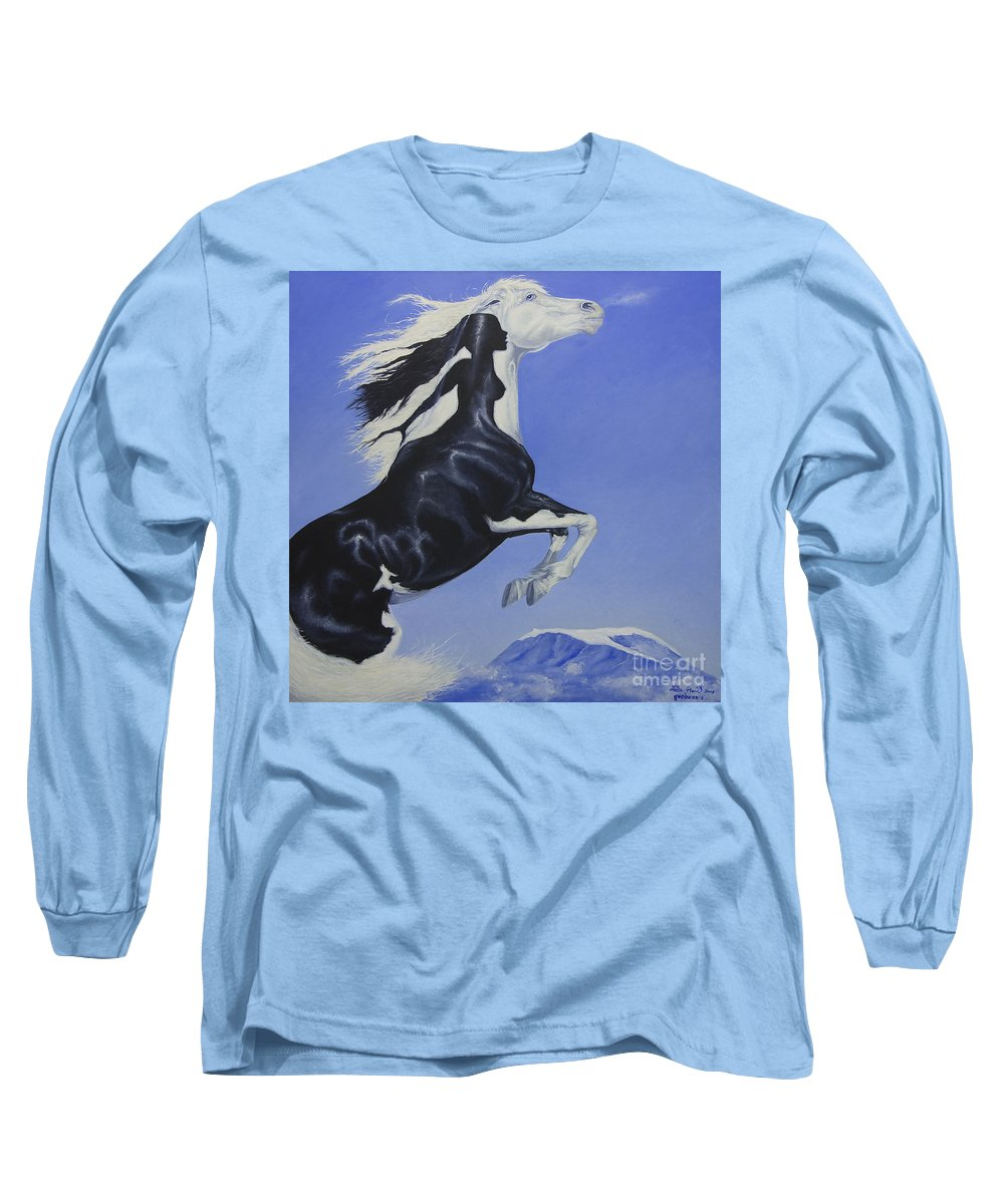 Paint Long Sleeve T-Shirt featuring the painting The Goddess Within by Louise Green
