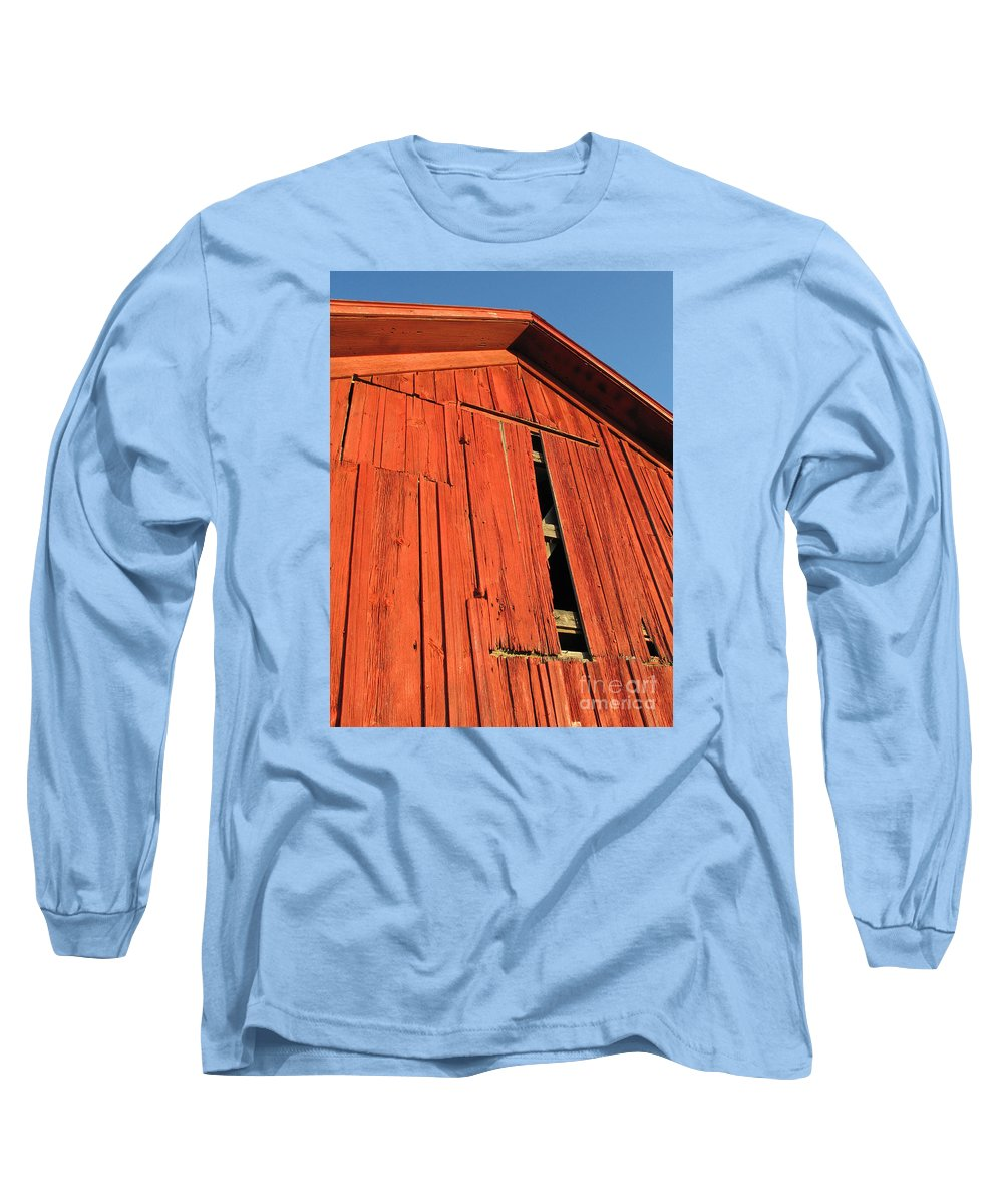 Barn Long Sleeve T-Shirt featuring the photograph Vintage Barn Aglow by Ann Horn