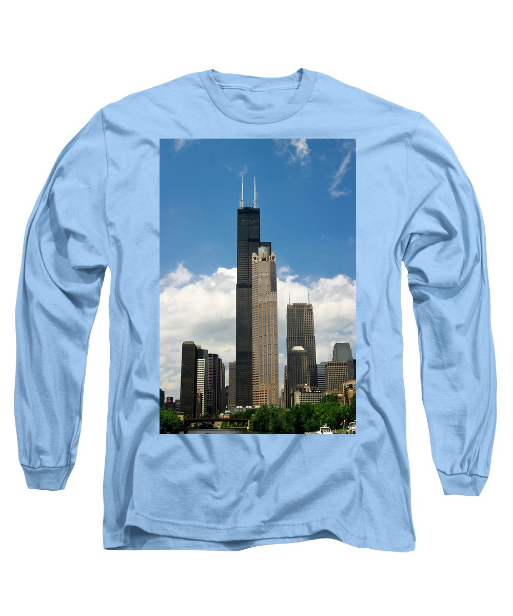3scape Long Sleeve T-Shirt featuring the photograph Willis Tower Aka Sears Tower by Adam Romanowicz