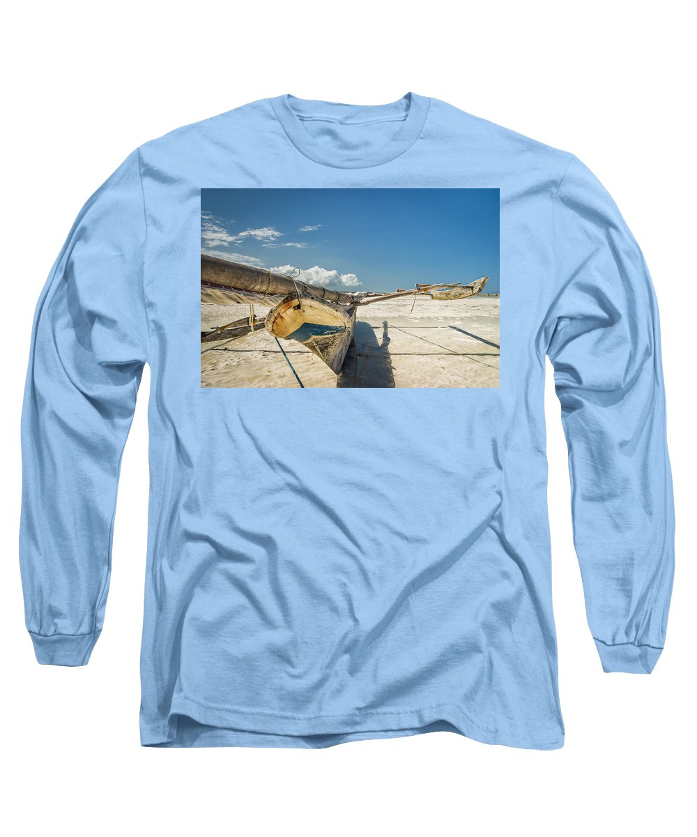 3scape Long Sleeve T-Shirt featuring the photograph Zanzibar Outrigger by Adam Romanowicz