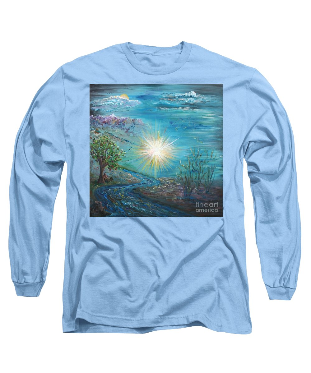 Creation Long Sleeve T-Shirt featuring the painting Creation by Nadine Rippelmeyer