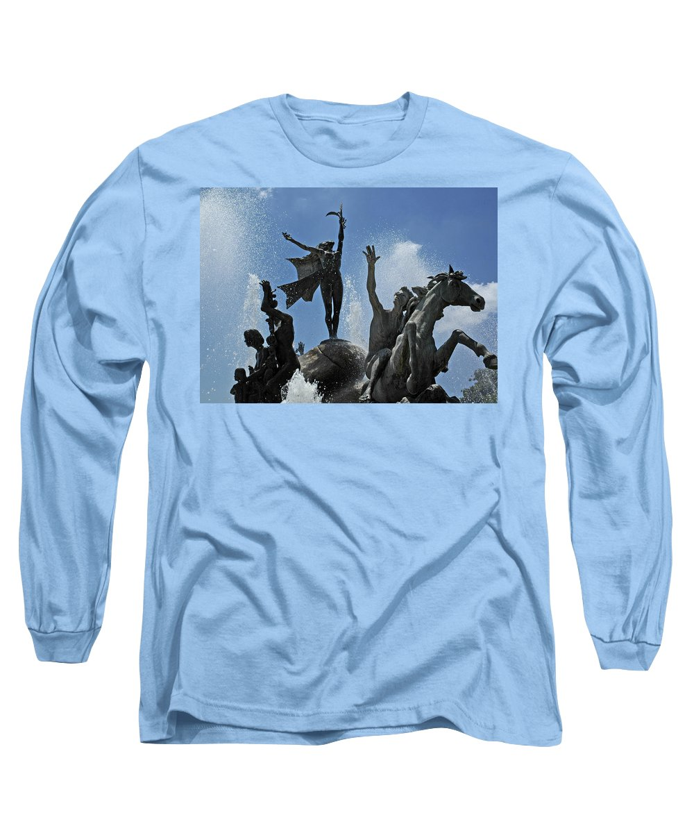 Statue Long Sleeve T-Shirt featuring the photograph Old San Juan Puerto Rico by Tito Santiago