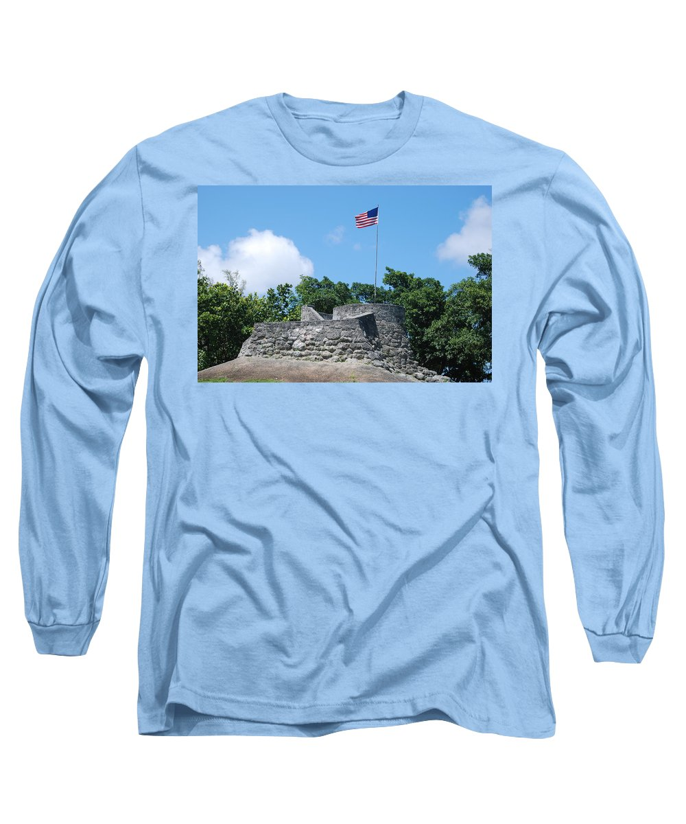 American Flag Long Sleeve T-Shirt featuring the photograph The Stand by Rob Hans