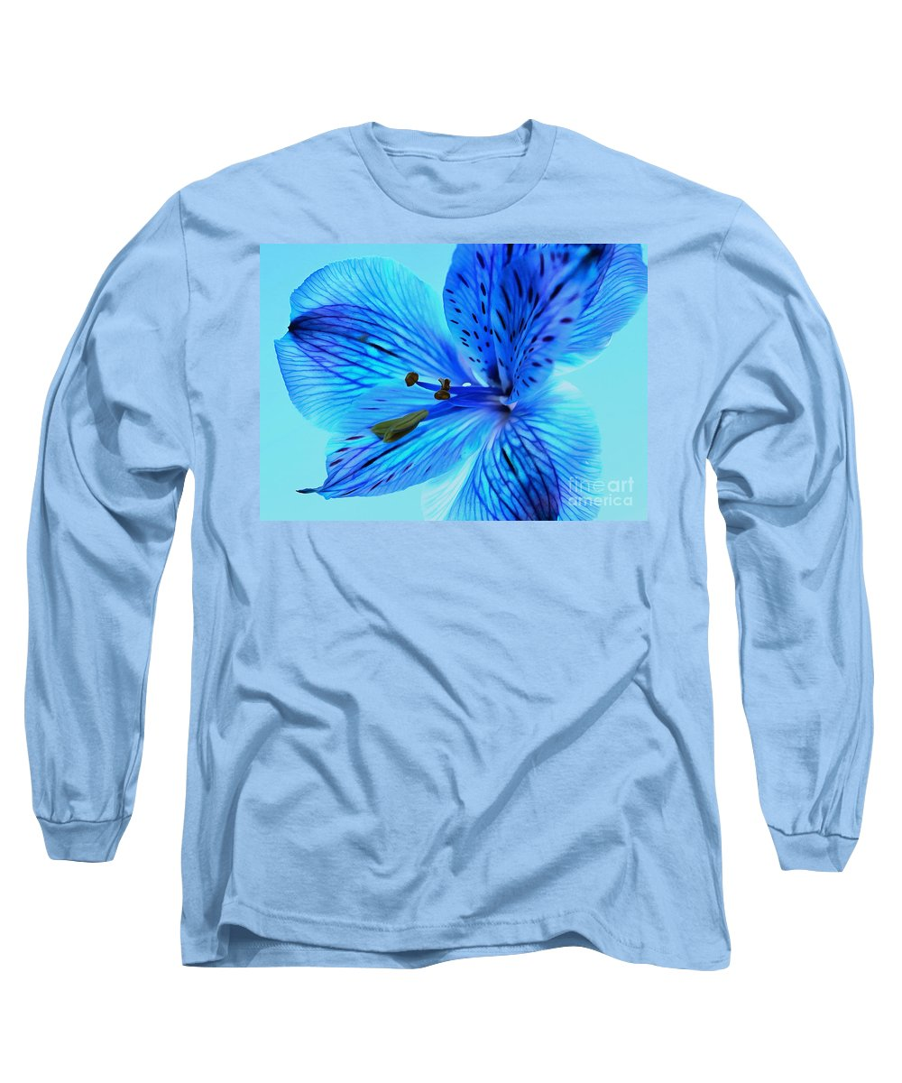 Blue Amaryllis Long Sleeve T-Shirt featuring the photograph Blue Summer II by Krissy Katsimbras