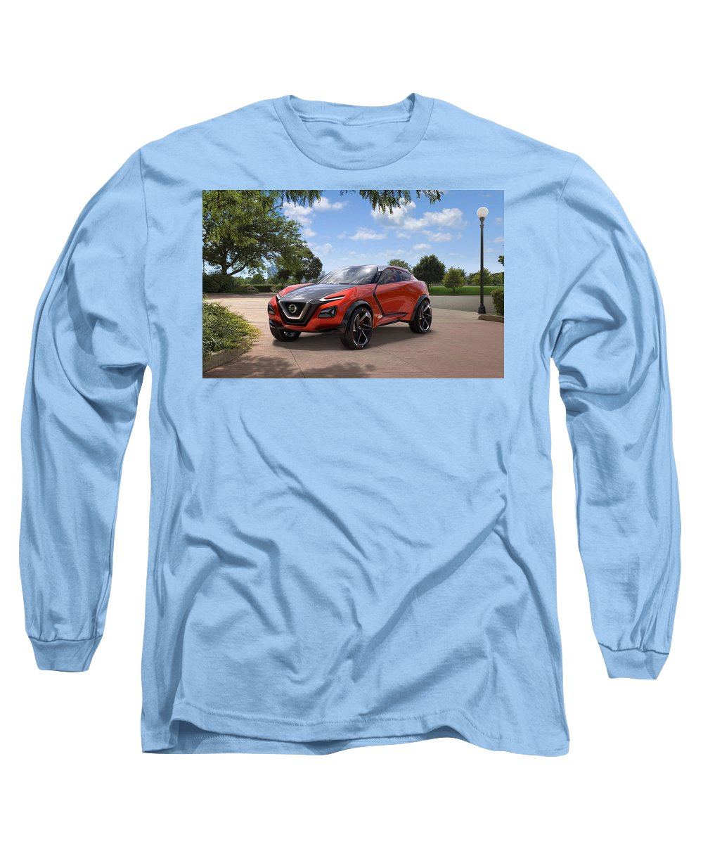 Nissan Gripz Concept Wide Long Sleeve T-Shirt featuring the digital art 2016 Nissan Gripz Concept 3 Wide by Mery Moon