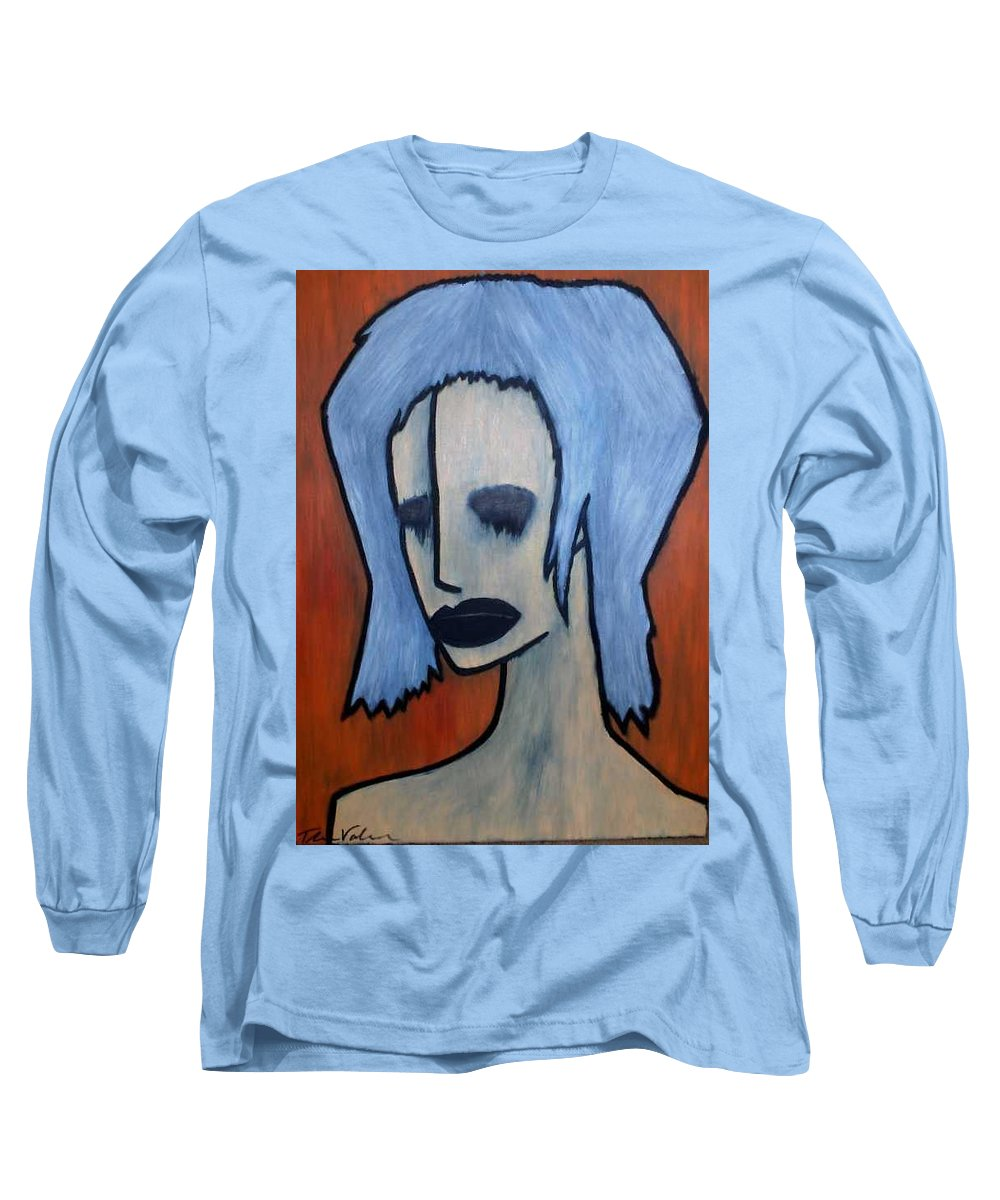 Potrait Long Sleeve T-Shirt featuring the painting Halloween by Thomas Valentine