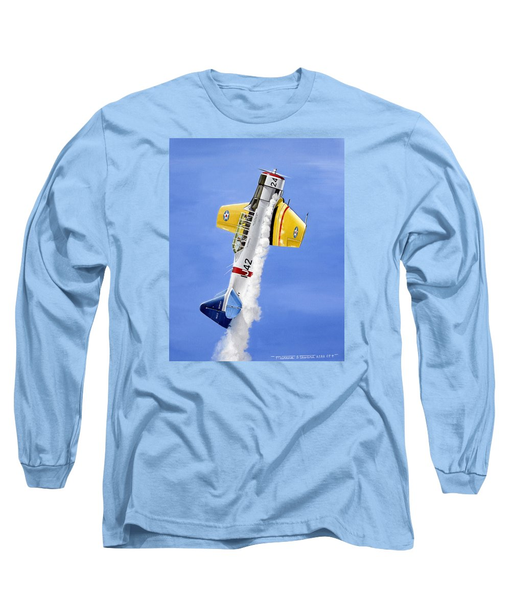 Military Long Sleeve T-Shirt featuring the painting Air Show by Marc Stewart