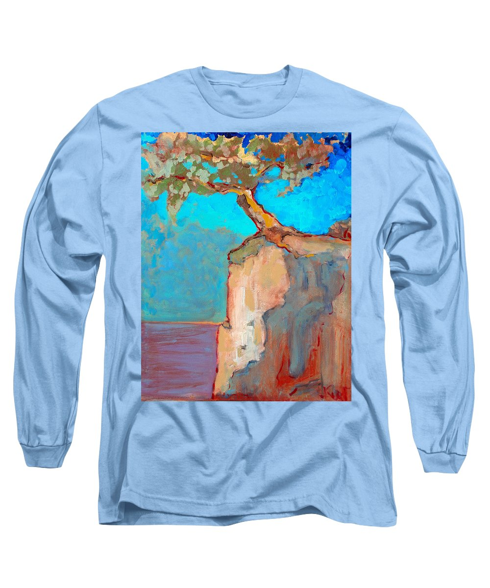 Tree Long Sleeve T-Shirt featuring the painting Albero by Kurt Hausmann