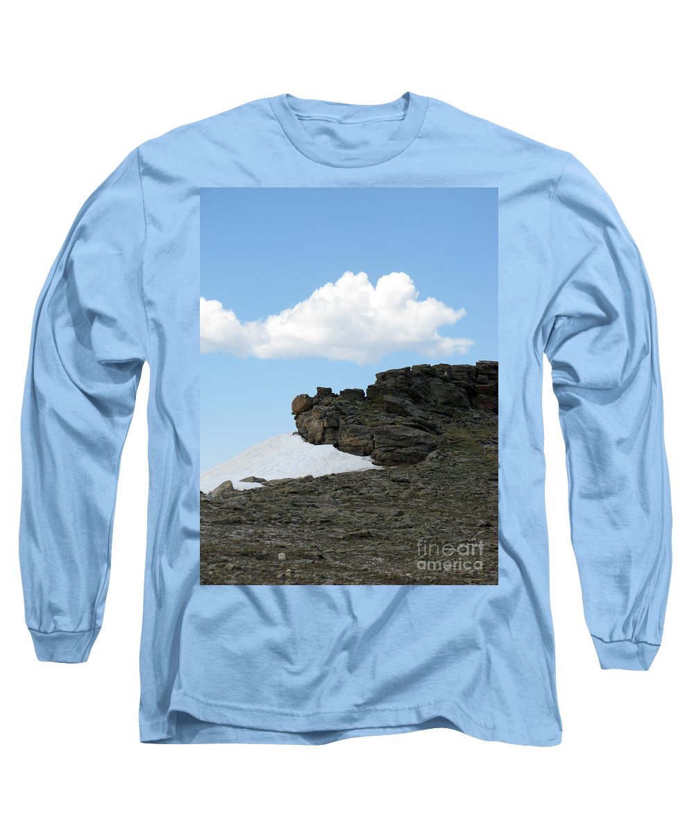 Rocky Mountains Long Sleeve T-Shirt featuring the photograph Alpine Tundra - Up In The Clouds by Amanda Barcon