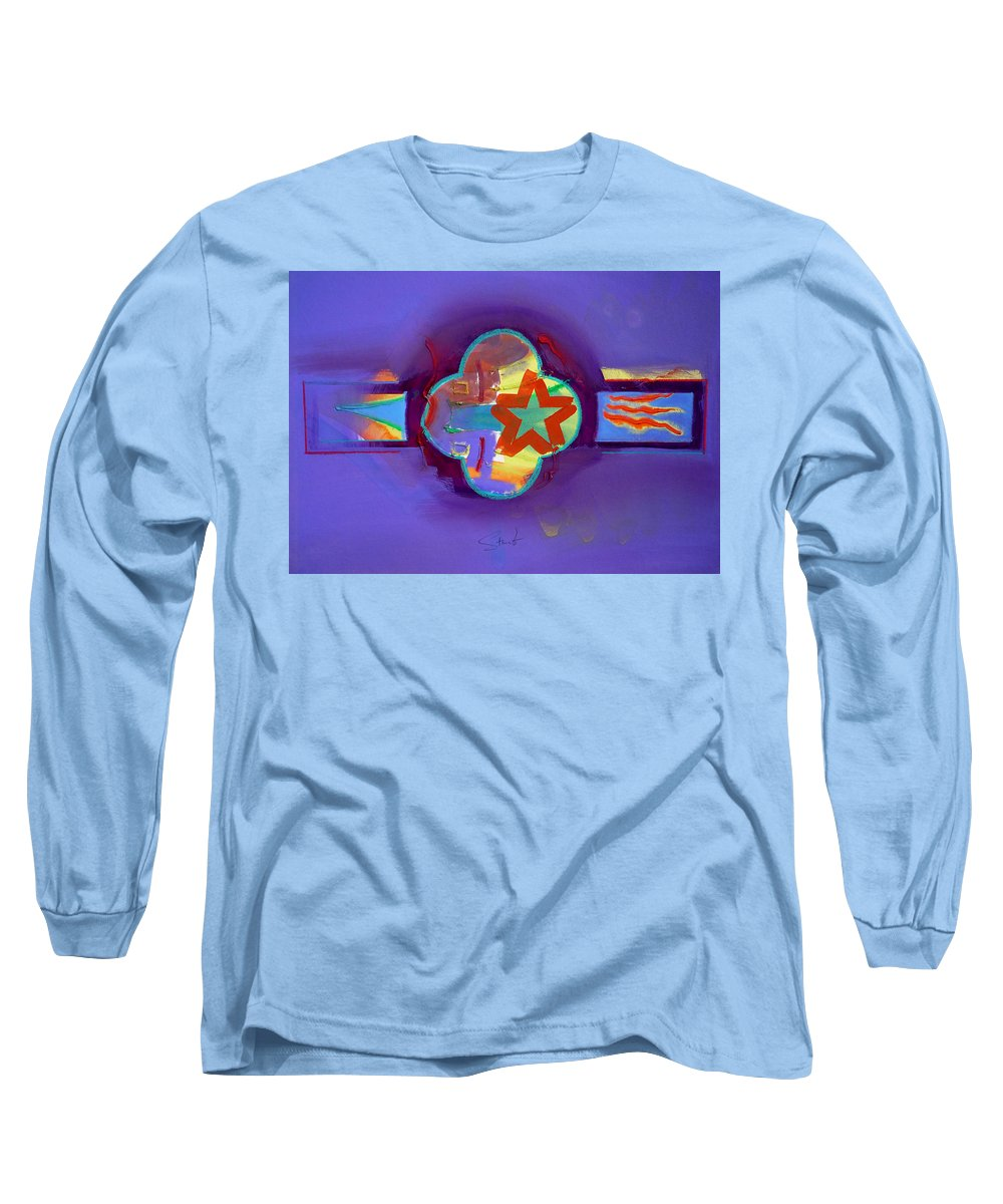 Star Long Sleeve T-Shirt featuring the painting American Neon by Charles Stuart
