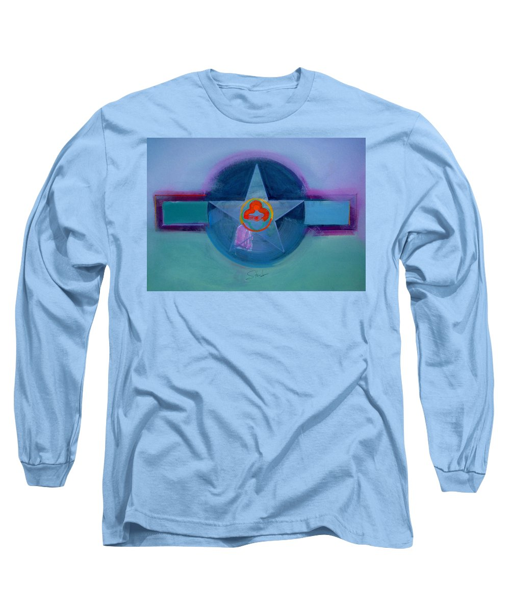 Star Long Sleeve T-Shirt featuring the painting American Spiritual by Charles Stuart