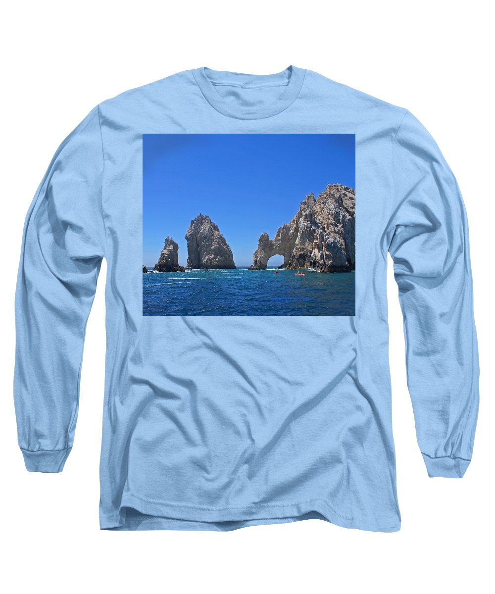 Mexico Long Sleeve T-Shirt featuring the photograph Arch At Cabo San Lucas by Heather Coen