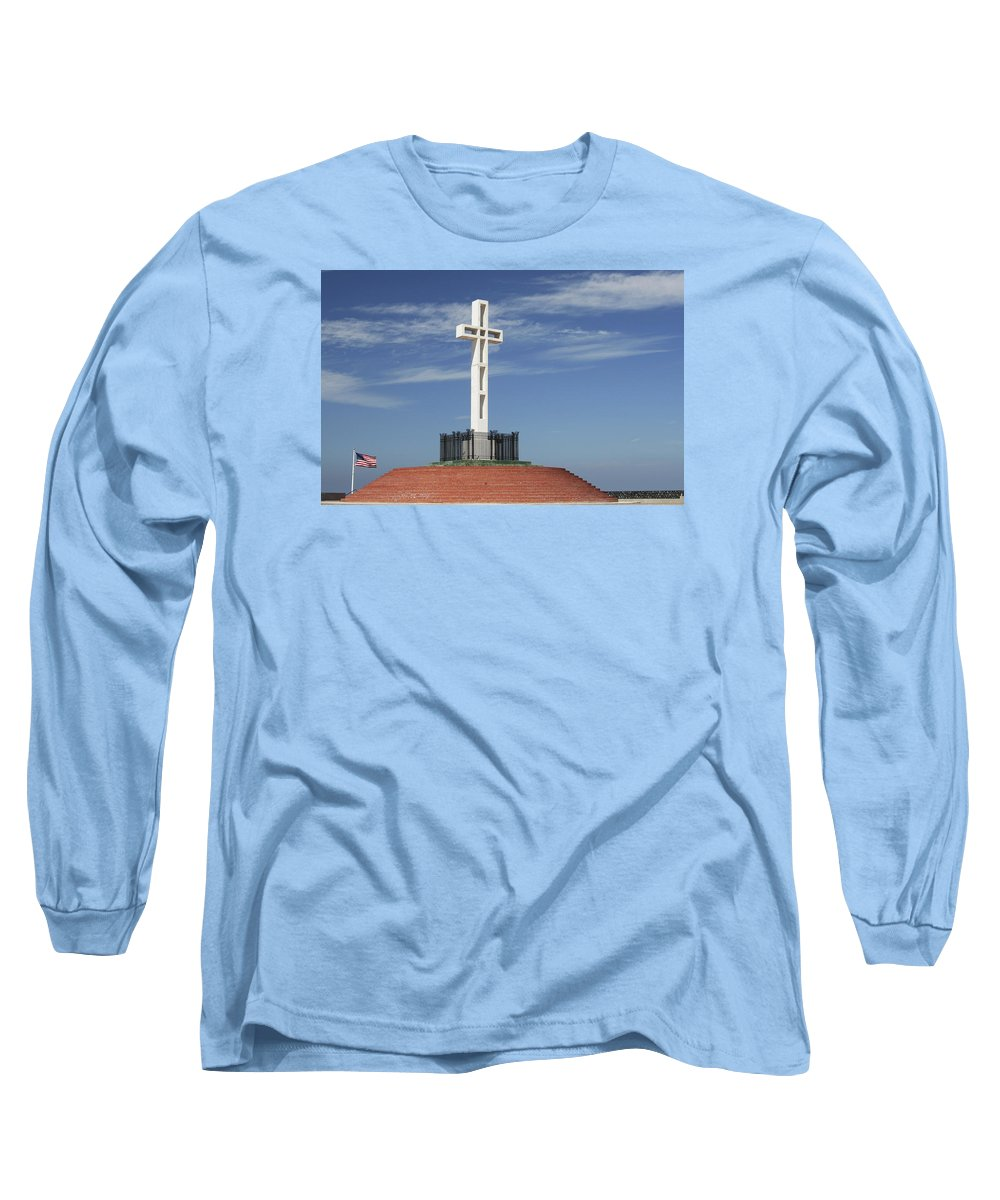 Mt Soledad Long Sleeve T-Shirt featuring the photograph Atop Mt Soledad by Margie Wildblood