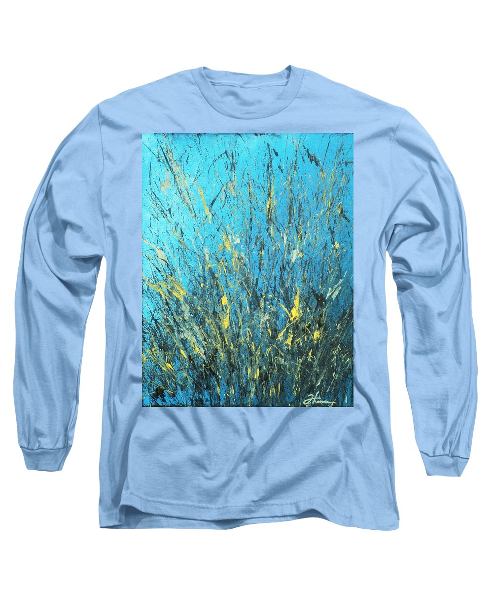 Splash Long Sleeve T-Shirt featuring the painting Awakening by Todd Hoover