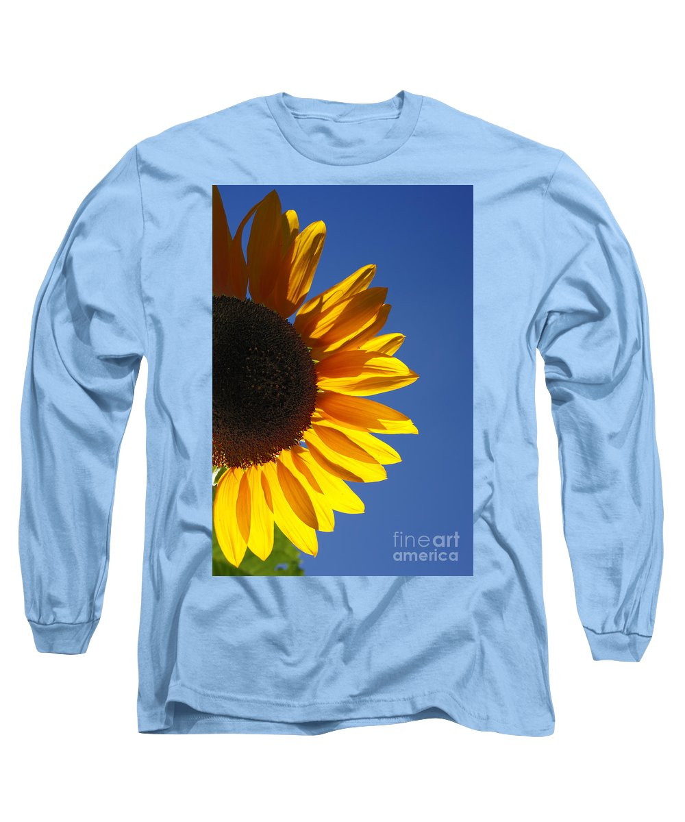 Back Light Long Sleeve T-Shirt featuring the photograph Backlit Sunflower by Gaspar Avila