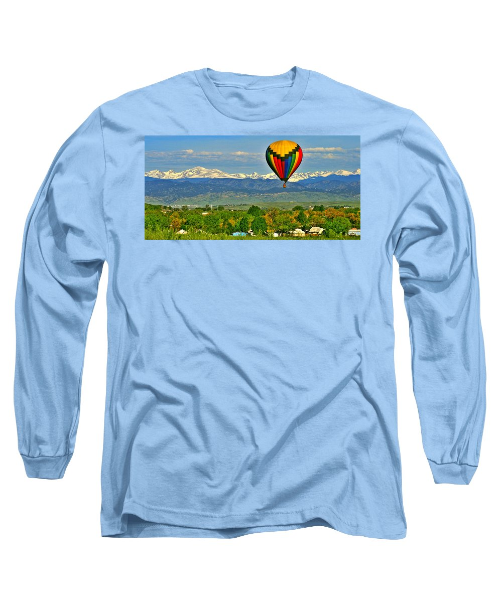 Colorado Long Sleeve T-Shirt featuring the photograph Ballooning Over The Rockies by Scott Mahon