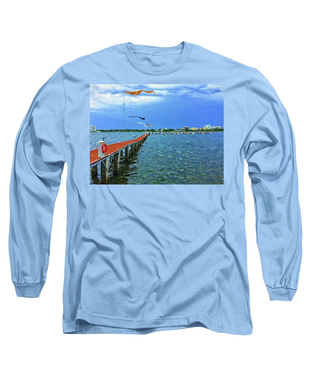 Alicegipsonphotographs Long Sleeve T-Shirt featuring the photograph Banners Flying by Alice Gipson