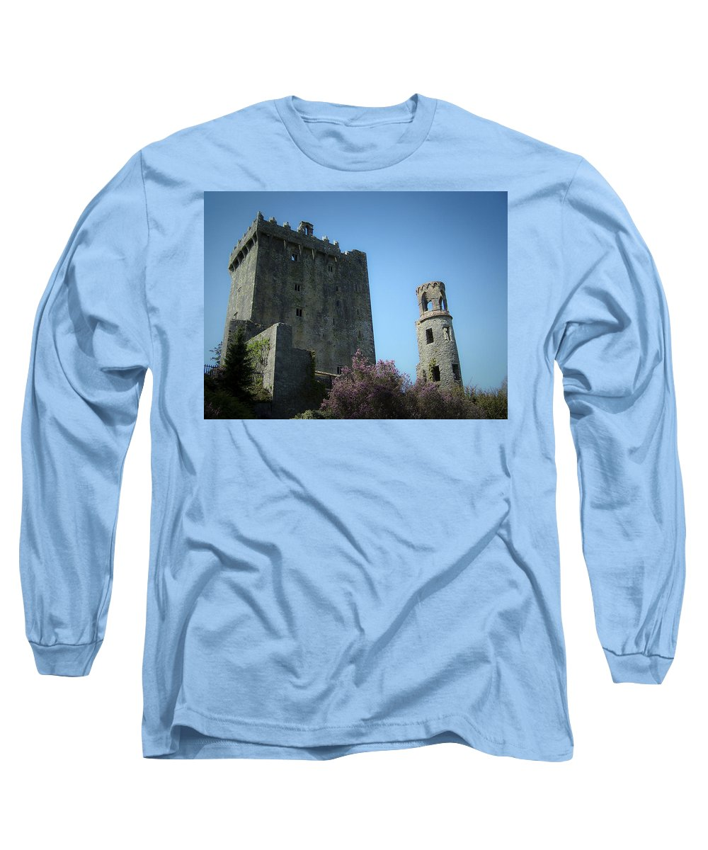 Irish Long Sleeve T-Shirt featuring the photograph Blarney Castle And Tower County Cork Ireland by Teresa Mucha