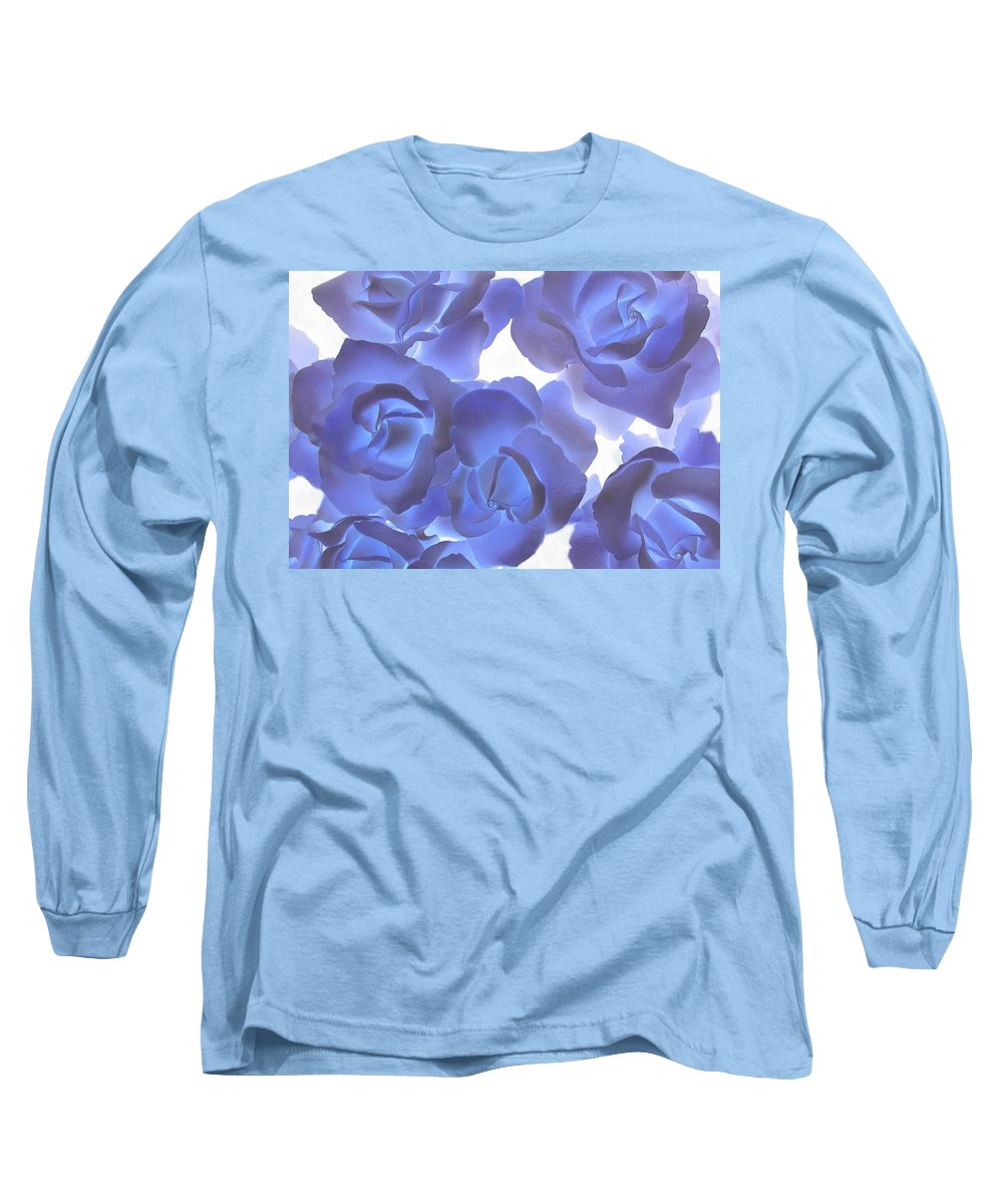 Blue Long Sleeve T-Shirt featuring the photograph Blue Roses by Tom Reynen