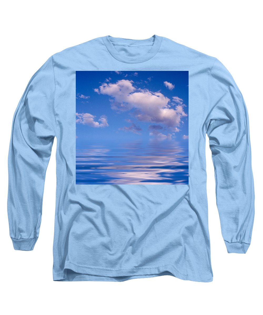 Original Art Long Sleeve T-Shirt featuring the photograph Blue Sky Reflections by Jerry McElroy