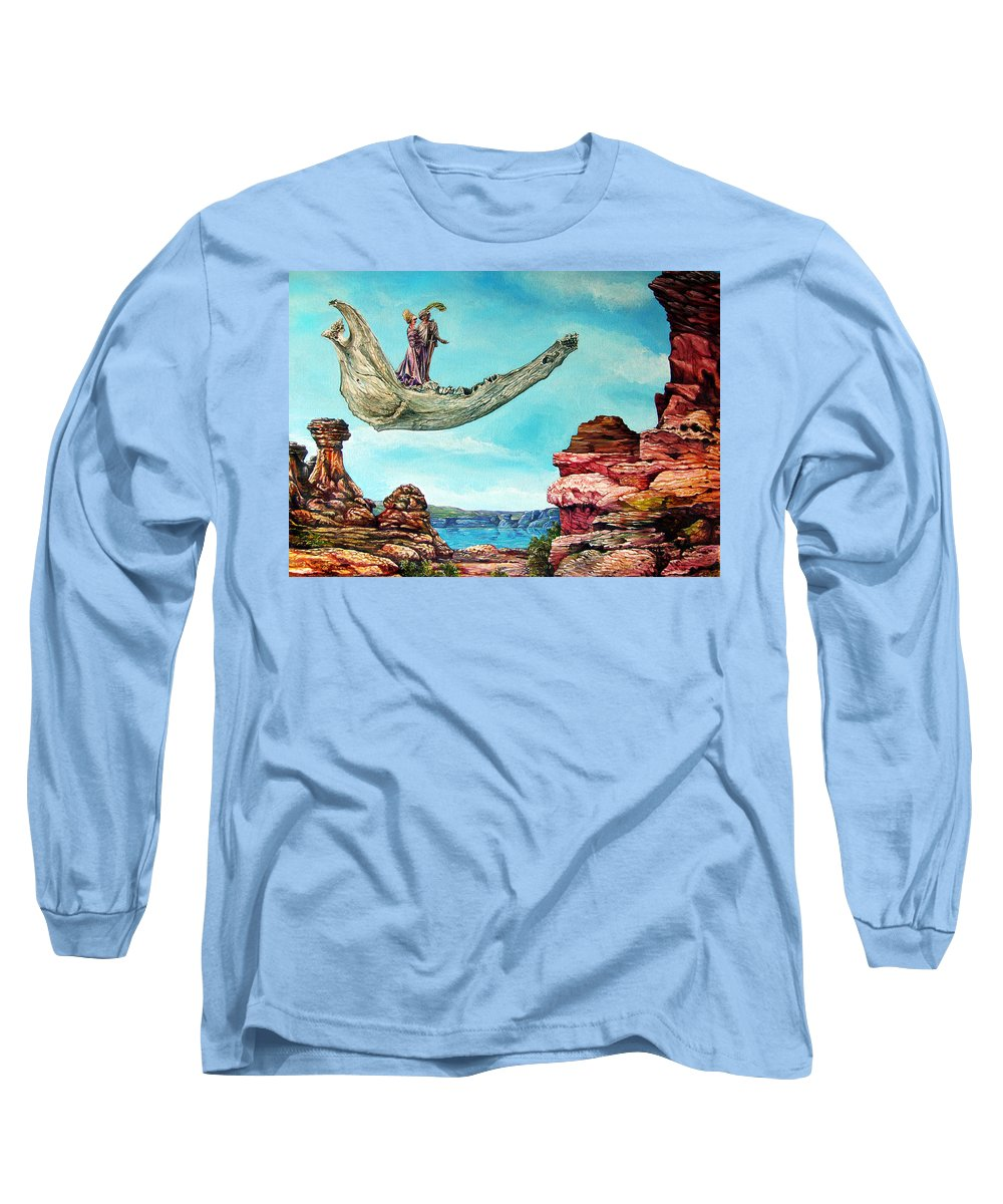 Painting Long Sleeve T-Shirt featuring the painting Bogomils Journey by Otto Rapp